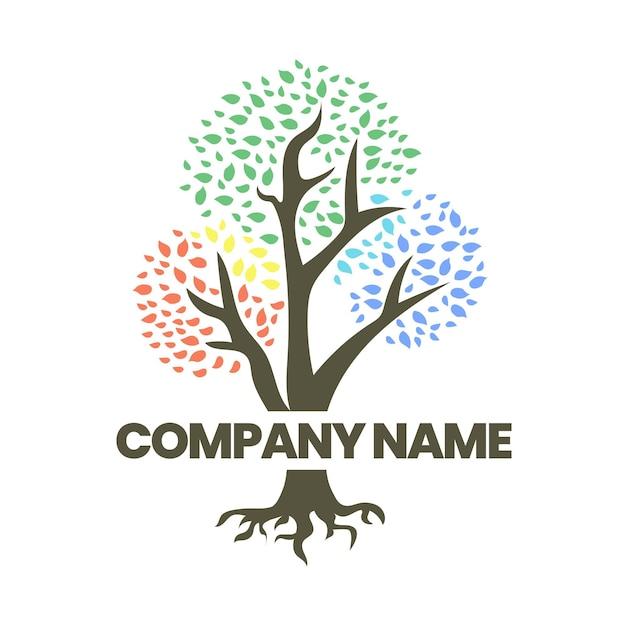 Modèle De Logo De Vie D'arbre Vecteur gratuit