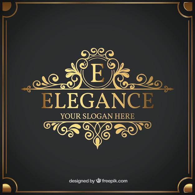Modèle De Logo Vintage Et Luxe Vecteur gratuit