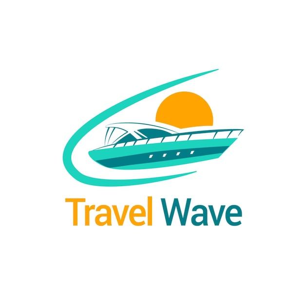 Modèle De Logo De Voyage Détaillé Vecteur gratuit