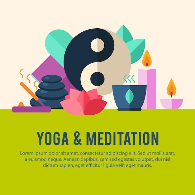 Modèle de logo de yoga. Vecteur gratuit