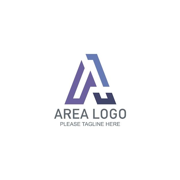 Modèle de logo de zone Vecteur Premium