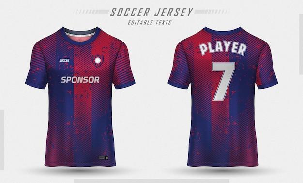 Modèle De Maillot De Football Conception De T-shirt De Sport Vecteur gratuit
