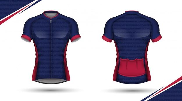 Modèle De Maillot De Football Design De T-shirt Sport Vecteur Premium