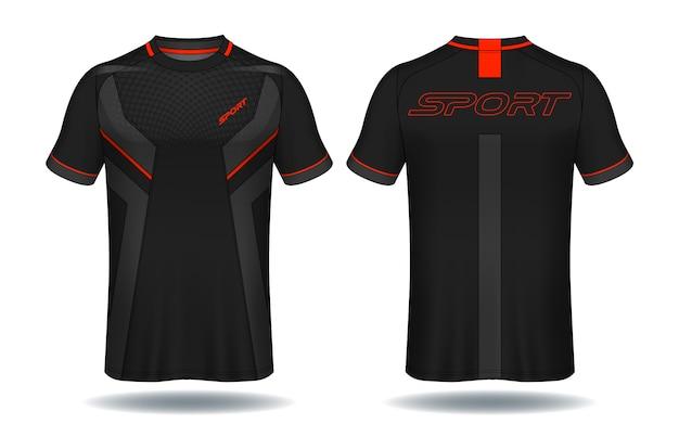 Modèle de maillot de football Vecteur Premium