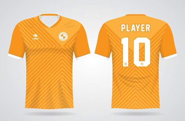 Modèle De Maillot De Sport Jaune Pour Les Uniformes D'équipe Et La Conception De T-shirt De Football Vecteur Premium