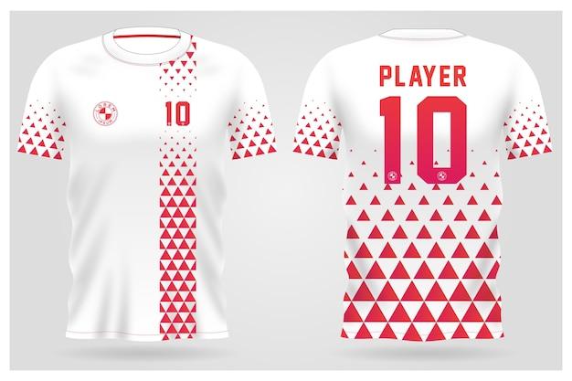 Modèle De Maillot De Sport Pour Les Uniformes D'équipe Et La Conception De T-shirt De Football Vecteur Premium
