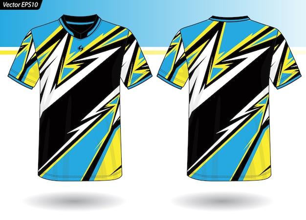 Modèle de maillot de sport pour les uniformes d'équipe Vecteur Premium