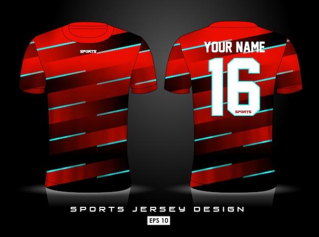 Modèle de maillot de sport Vecteur Premium