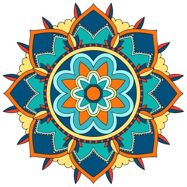 Modèle De Mandala Vecteur gratuit