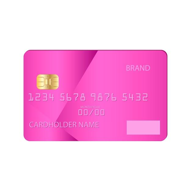 Modèle de maquette de carte de crédit bancaire illustration plate Vecteur Premium