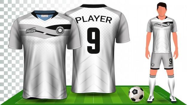 Modèle de maquette de présentation de kit de football Vecteur Premium