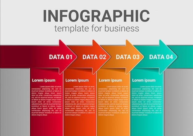Modèle de marketing d'entreprise infographique Vecteur Premium