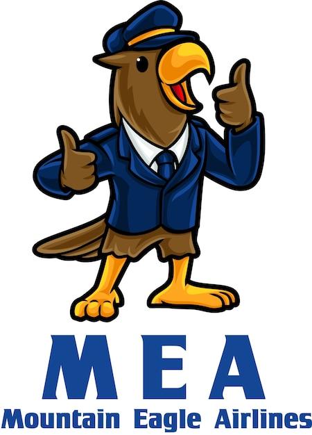 Modèle De Mascotte De Logo Eagle Airlines Vecteur Premium