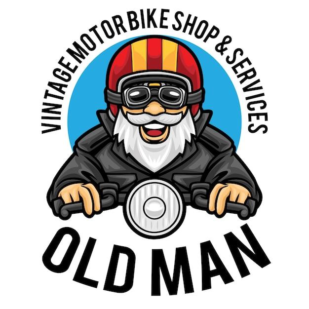 Modèle De Mascotte De Logo De Service De Magasin De Moto Vecteur Premium