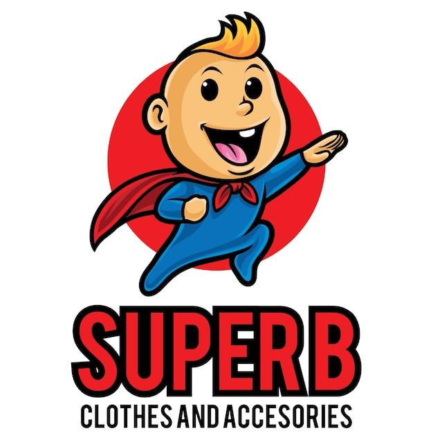 Modèle De Mascotte Super Baby Logo Vecteur Premium