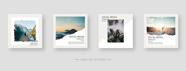 Modèle De Médias Sociaux. Modèle De Publication De Médias Sociaux Modifiable à La Mode. Vecteur Premium
