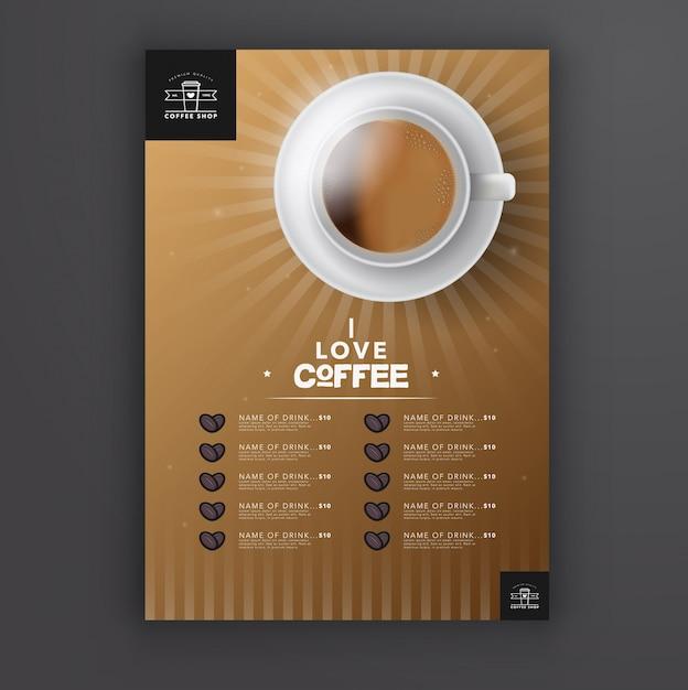 Modèle de menu de café Vecteur gratuit