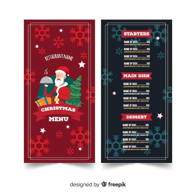 Modèle De Menu De Noël Créatif Télécharger Des Vecteurs