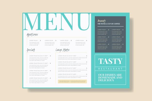 Modèle De Menu De Restaurant Coloré Télécharger Des