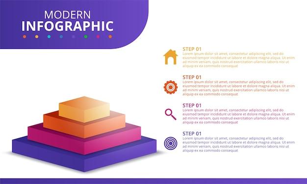 Modèle Minimal D'infographie Commerciale. Illustration Vectorielle Vecteur gratuit