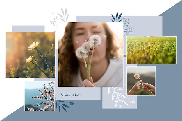Modèle Minimaliste De Collage Photo Vecteur gratuit