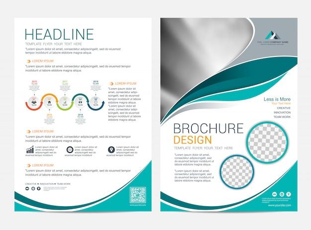 Modèle de mise en page de brochure, arrière-plan de conception de la couverture flyer flyer Vecteur Premium