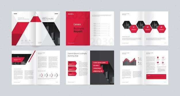 Modèle de mise en page avec page de couverture pour profil d'entreprise Vecteur Premium