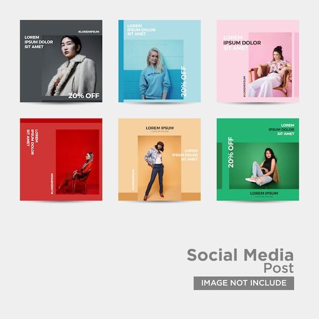 Modèle de mode de médias sociaux Vecteur Premium