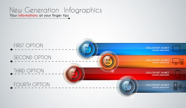 Modèle moderne d'infographie pour classer les données et les informations Vecteur Premium