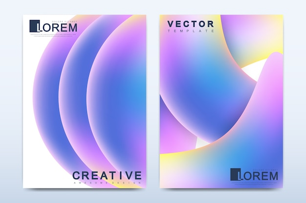 Modèle Moderne Pour Brochure, Dépliant, Dépliant, Couverture, Catalogue, Magazine Ou Rapport Annuel Vecteur Premium