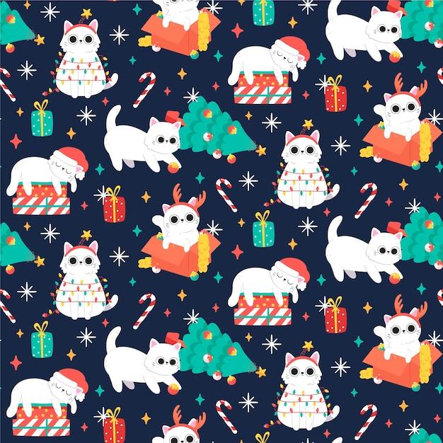 Modèle De Noël Drôle Et Coloré Vecteur gratuit