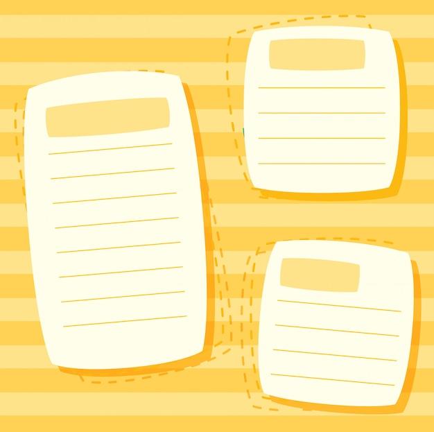 Un modèle de note jaune Vecteur gratuit