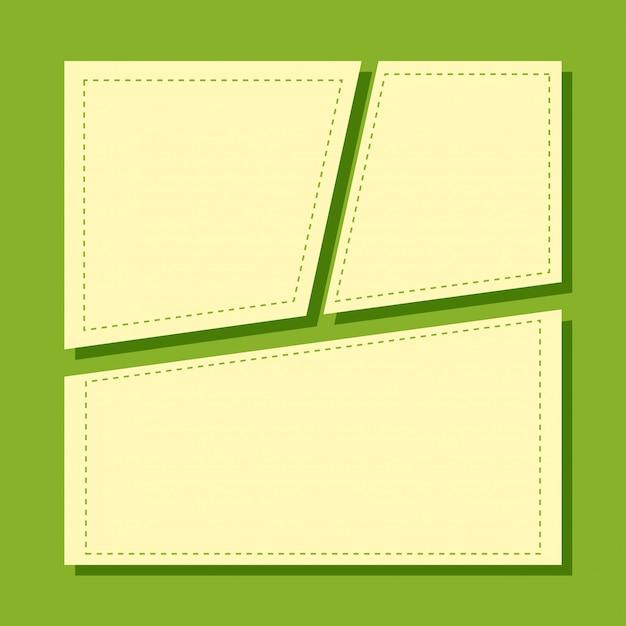 Un modèle de note verte Vecteur gratuit