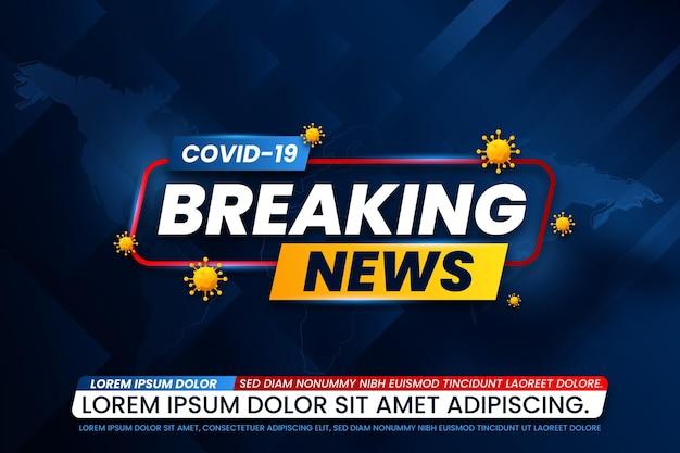 Modèle De Nouvelles De Dernière Minute Sur Le Coronavirus Vecteur Premium