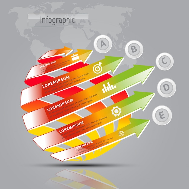 Modèle numérique abstrait 3d moderne Vecteur Premium