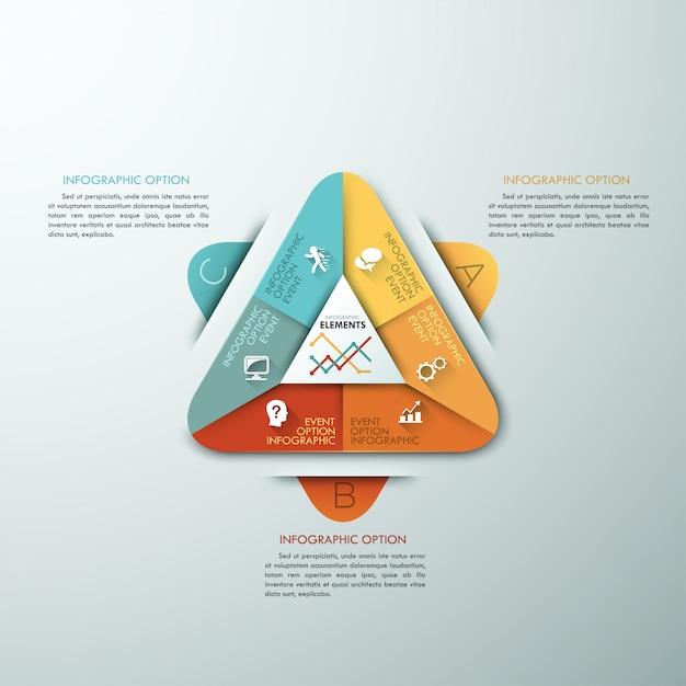 Modèle D'option D'infographie Moderne 3d Vecteur Premium