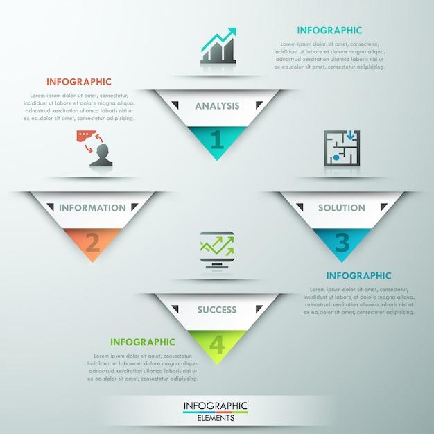 Modèle d'option d'infographie moderne Vecteur Premium