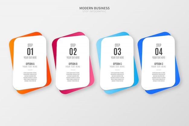 Modèle D'options D'infographie Coloré Vecteur gratuit
