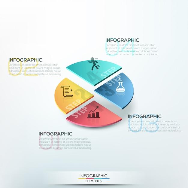 Modèle d'options d'infographie isométrique Vecteur Premium