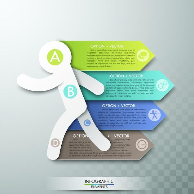 Modèle D'options D'infographie Moderne Pour 4 Options Vecteur Premium