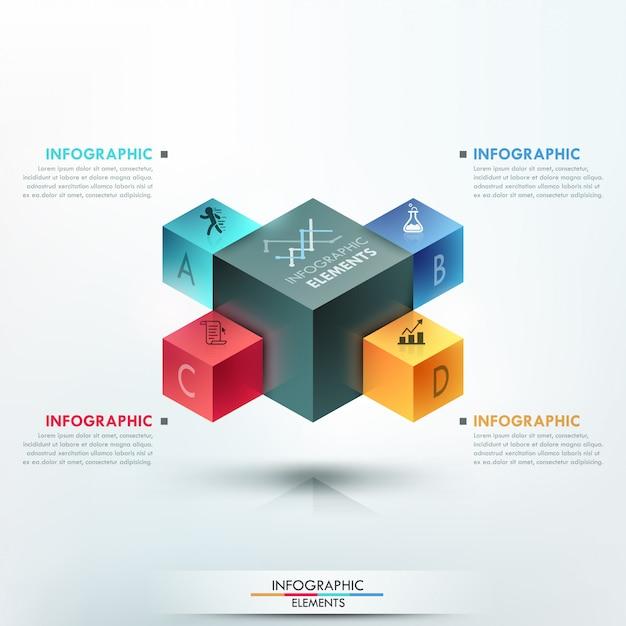 Modèle d'options d'infographie moderne Vecteur Premium