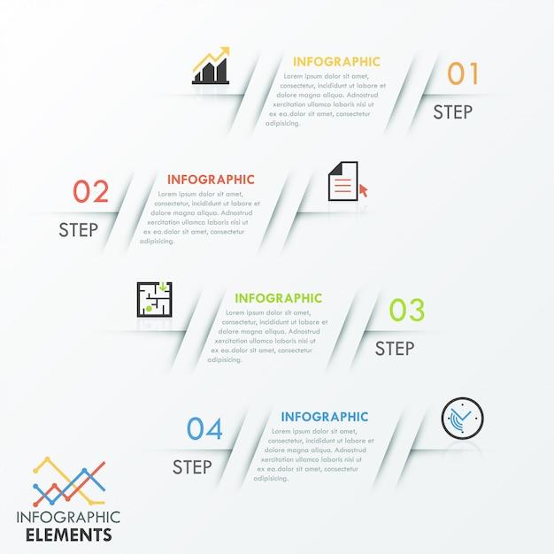 Modèle D'options Infographiques Minimes Avec Des Textures De Ligne Vecteur Premium
