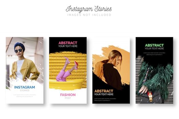 Modèle De Pack D'histoires Instagram Modernes Vecteur gratuit