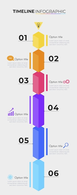 Modèle De Pack Infographique De Chronologie Vecteur gratuit