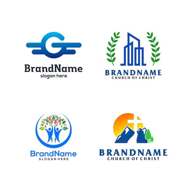 Modèle de pack de logo Vecteur Premium