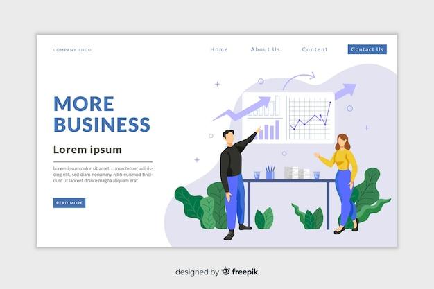 Modèle de page d'analyse d'entreprise avec photo Vecteur gratuit