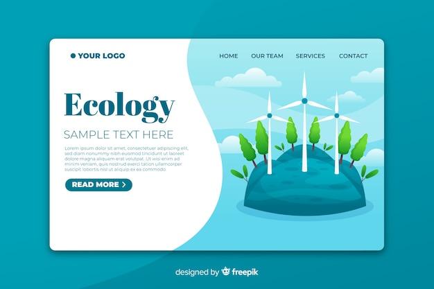 Modèle de page d'atterrissage d'écologie Vecteur gratuit