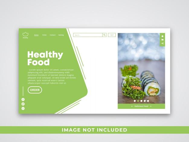 Modèle de page d'atterrissage de restaurant Vecteur Premium