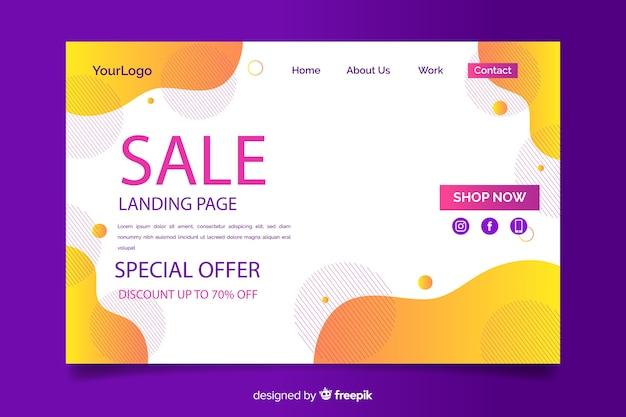 Modèle de page d'atterrissage de vente de mode Vecteur gratuit