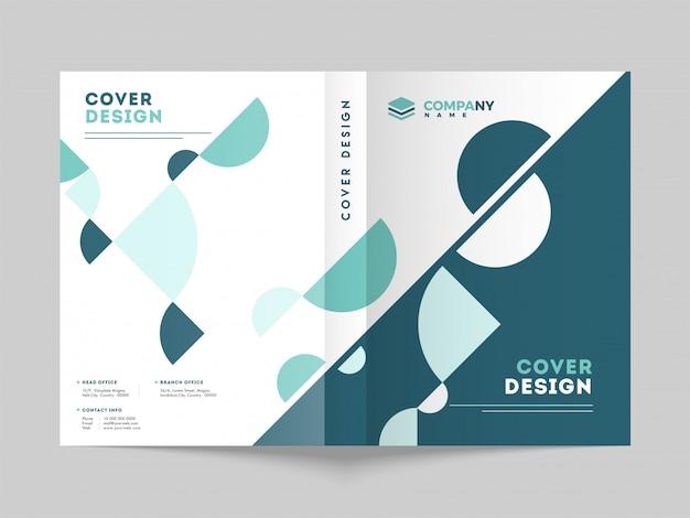 Modèle de page de couverture promotionnelle. Vecteur Premium